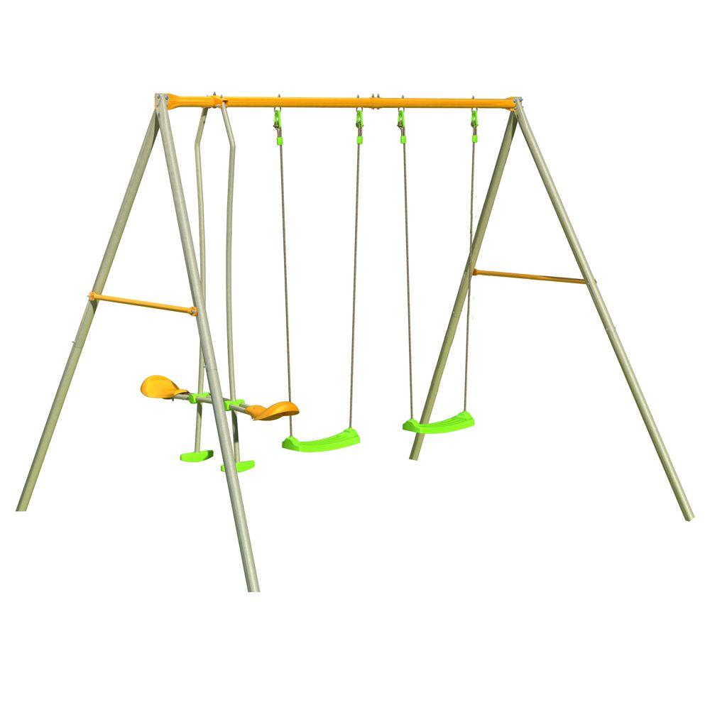 portique m tal axion 2 balan oires 1 face face 259 x 213 x 220 cm 25 kg gamm vert. Black Bedroom Furniture Sets. Home Design Ideas