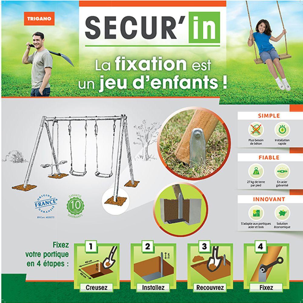 Kit de scellement pour portique bois ou métal Secur'in