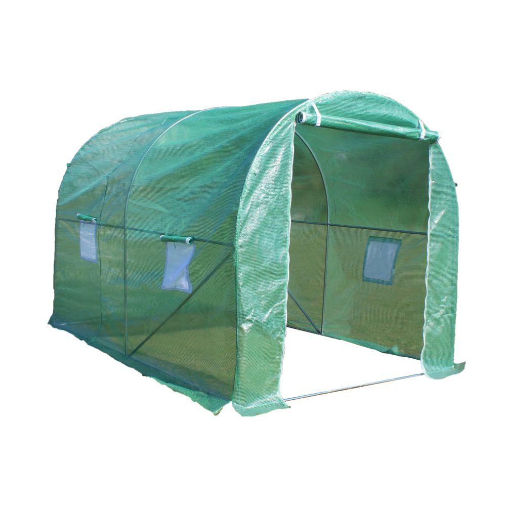 serre tunnel 5 m b che hiver habrita gamm vert. Black Bedroom Furniture Sets. Home Design Ideas