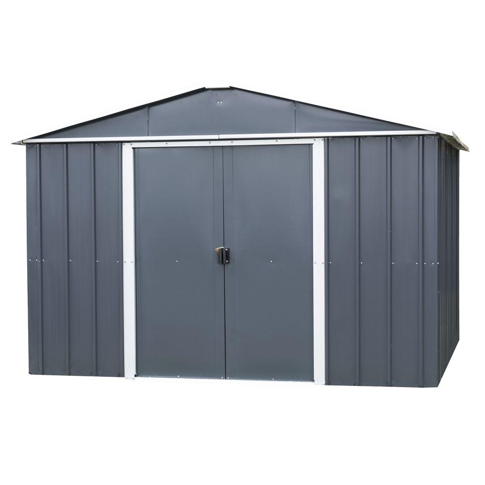 abri de jardin m tal 12 m ep 0 30 mm yardmaster colis 1 190x75x15 cm colis 2 206x75x15 cm. Black Bedroom Furniture Sets. Home Design Ideas
