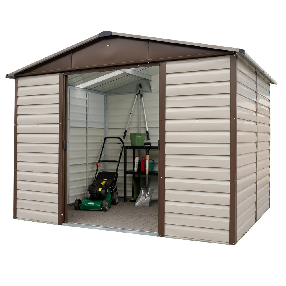 7dcdcbd9d52f82 Petit abri de jardin métal 4,79 m² Ep. 0,30 mm Yardmaster Colis 1 ...