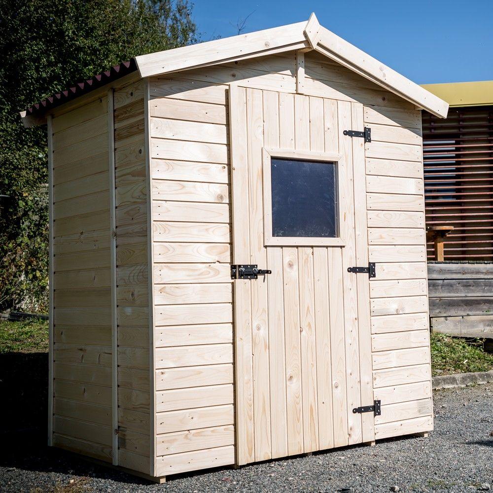 Petit abri de jardin bois 2 61 m ep 16 mm habrita 177x80x45 cm gamm vert - Abri jardin gamm vert nice ...