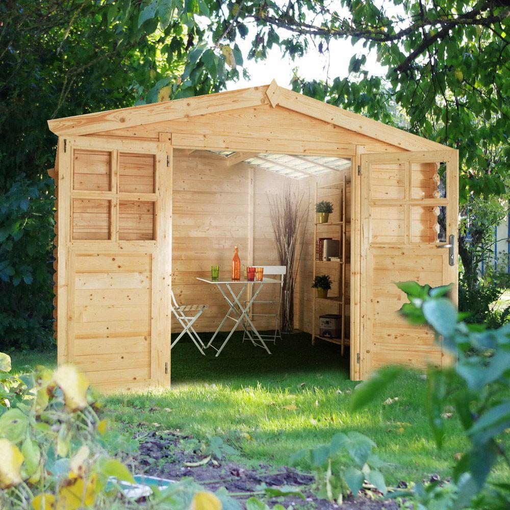 Abri de jardin bois toit polycarbonate 6 32 m ep 28 mm soleil l 305 x l 120 x h 50 cm gamm vert - Toit abri de jardin en bois ...