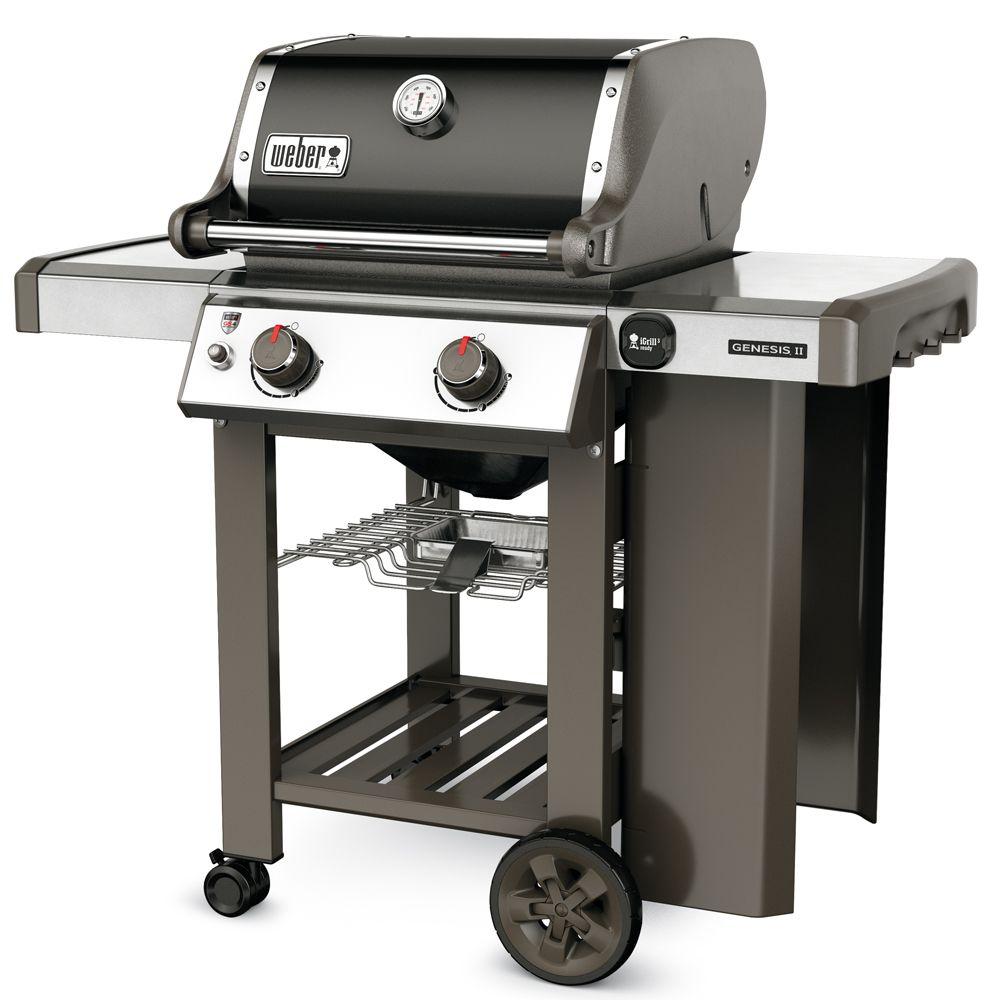 Barbecue gaz weber genesis ii e 210 noir 80 3 x 64 77 x 65 41 cm gamm vert - Recettes barbecue weber gaz ...