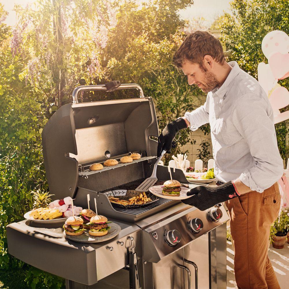 Barbecue gaz weber genesis ii lx s 340 inox 88 9 x 83 82 x 132 08 cm gamm vert - Recettes barbecue weber gaz ...