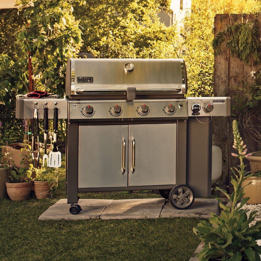 barbecue gaz weber genesis ii lx s 440 inox 106 88 x 83 82 x 132 08 cm gamm vert. Black Bedroom Furniture Sets. Home Design Ideas