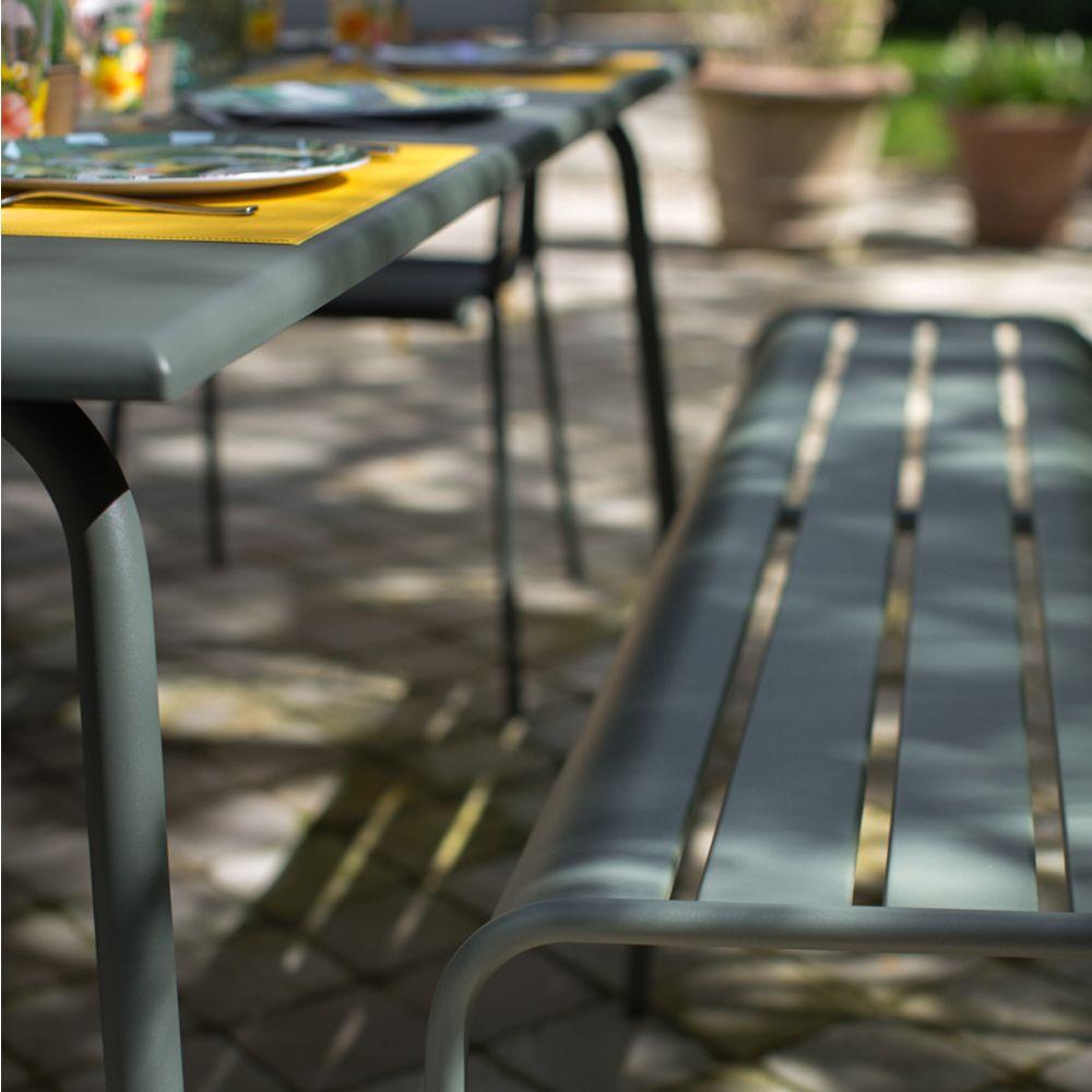Salon de jardin Fermob Monceau : 8 pers. romarin/muscade/miel ...