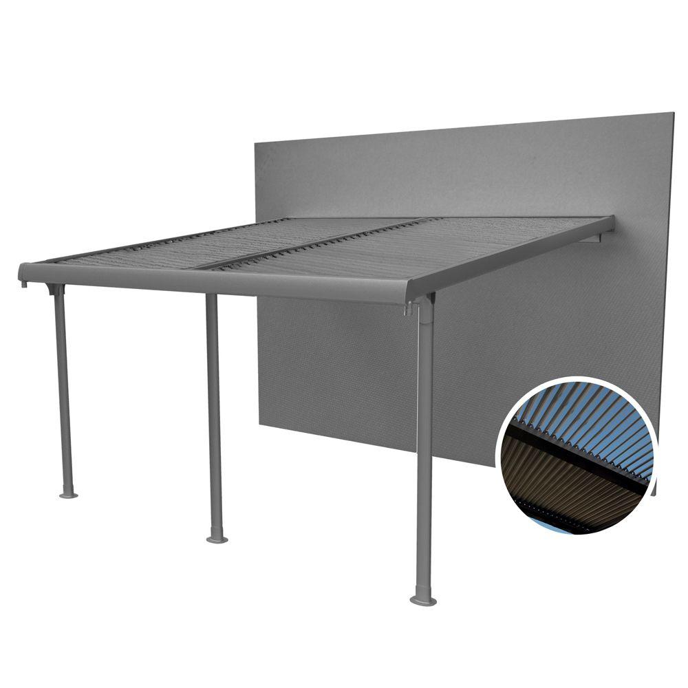 tonnelle adoss e aluminium lames orientables 4x3 5 m. Black Bedroom Furniture Sets. Home Design Ideas