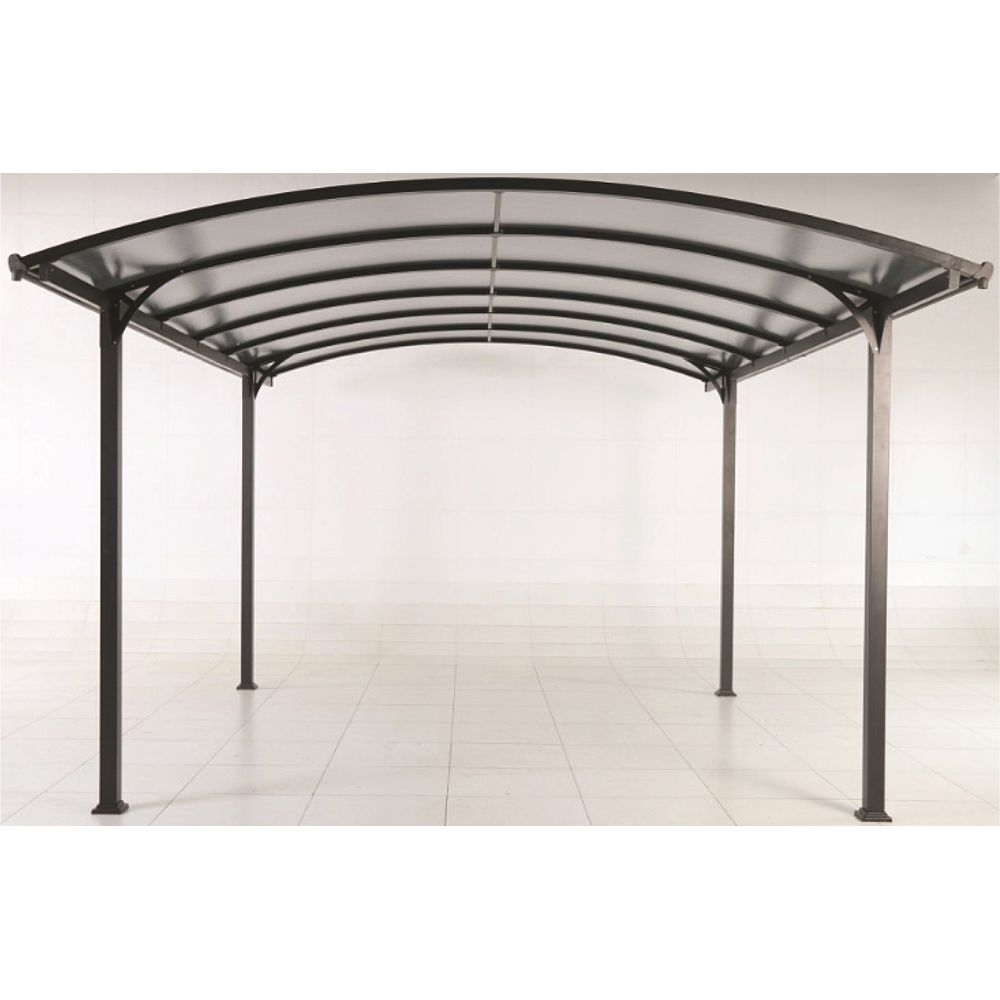 carport aluminium avec clairage autonome 18 m 371x74x6. Black Bedroom Furniture Sets. Home Design Ideas