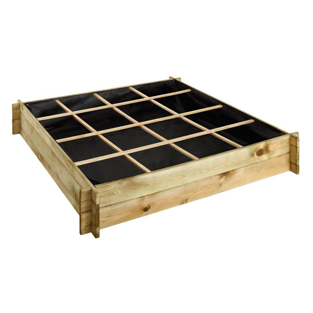 carr potager bois trait l134 l134 cm cardon 123x29x11 cm gamm vert. Black Bedroom Furniture Sets. Home Design Ideas