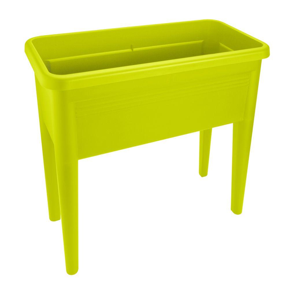carr potager sur pieds elho green basics l76 h65 1 cm vert l36 5 x l65 1 x h75 5 cm gamm vert. Black Bedroom Furniture Sets. Home Design Ideas