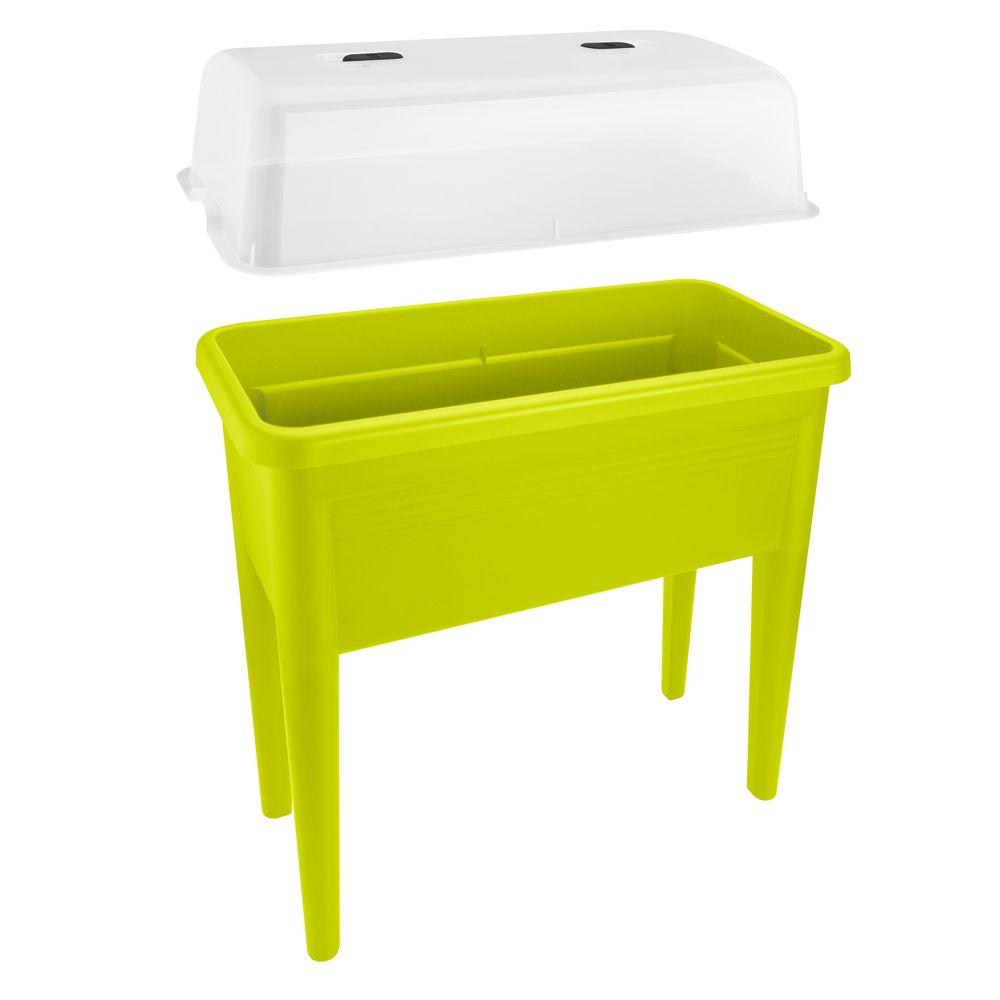 carr potager sur pieds avec cloche elho l76 h65 1 cm vert gamm vert. Black Bedroom Furniture Sets. Home Design Ideas