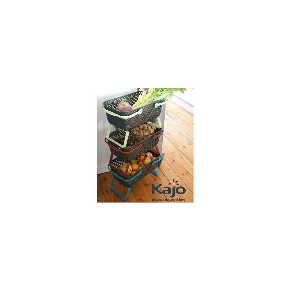 Lot de 3 paniers Kajo 15 L Cerise/Tilleul/Turquoise – Pouss'Vert