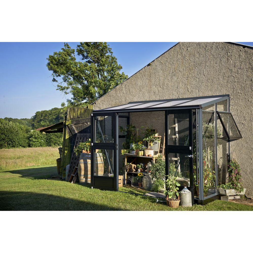 Serre de jardin adossée Veranda 9.9 m² - Anthracite - Juliana ...