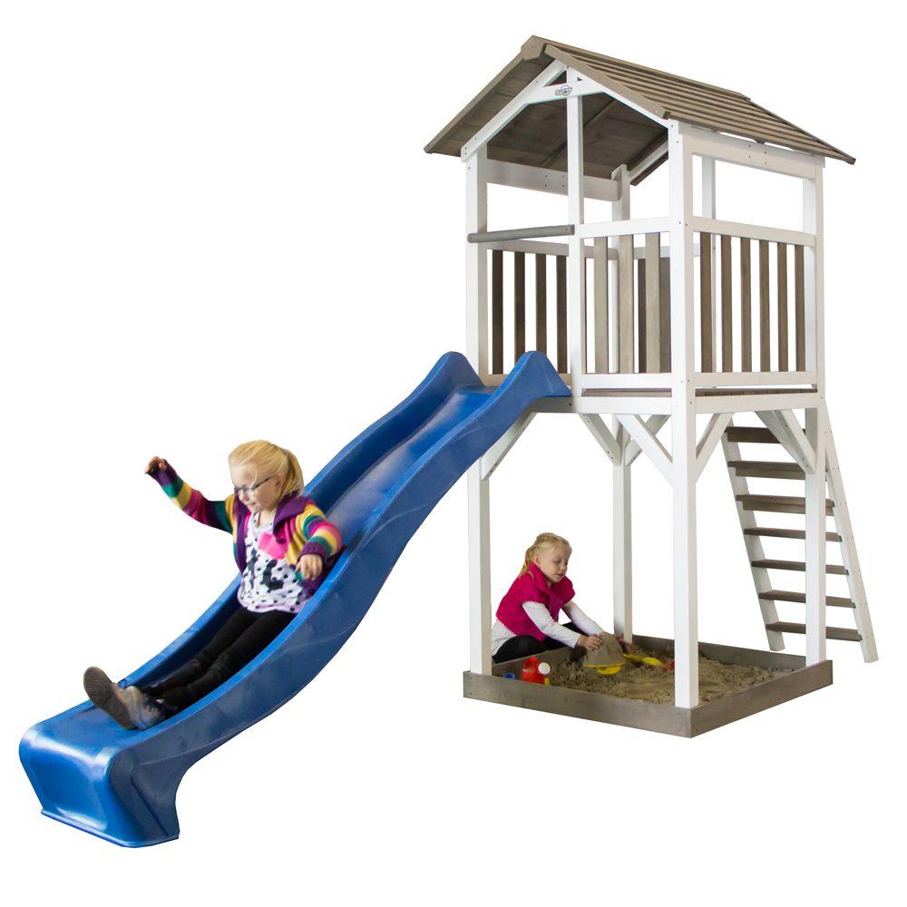 Station de jeux bois + Toboggan Beach Tower
