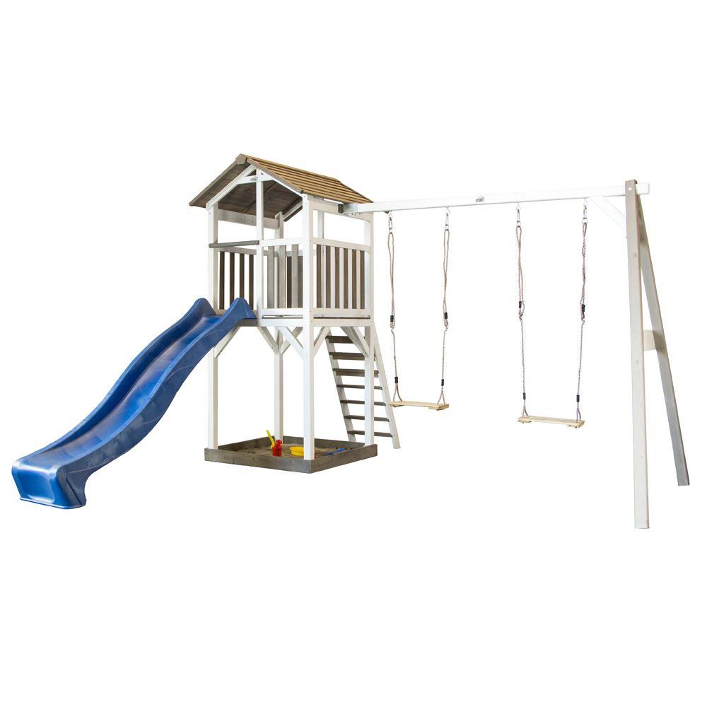 station de jeux bois toboggan 2 balan oires beach tower 108 x 238 x 65 cm gamm vert. Black Bedroom Furniture Sets. Home Design Ideas