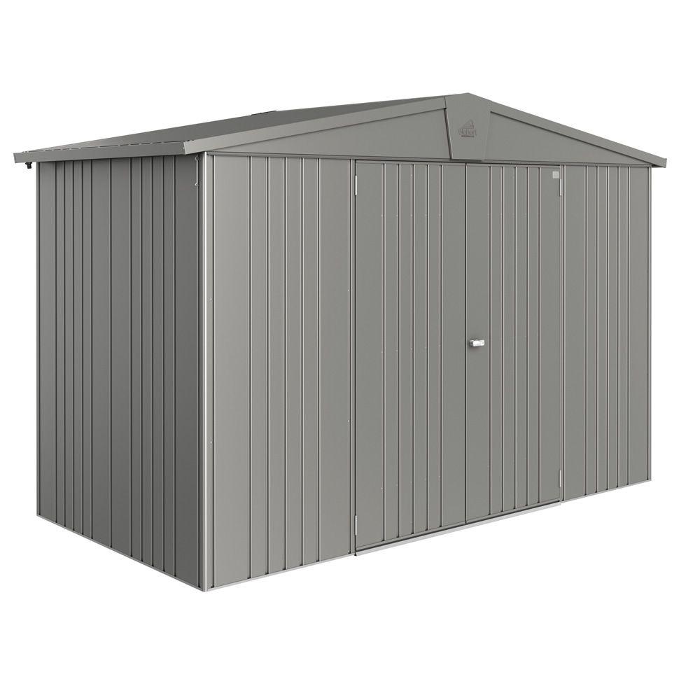 abri de jardin m tal 4 92 m ep 0 53 mm europa 4a biohort gris 316 x 156 x 209 cm gamm vert. Black Bedroom Furniture Sets. Home Design Ideas