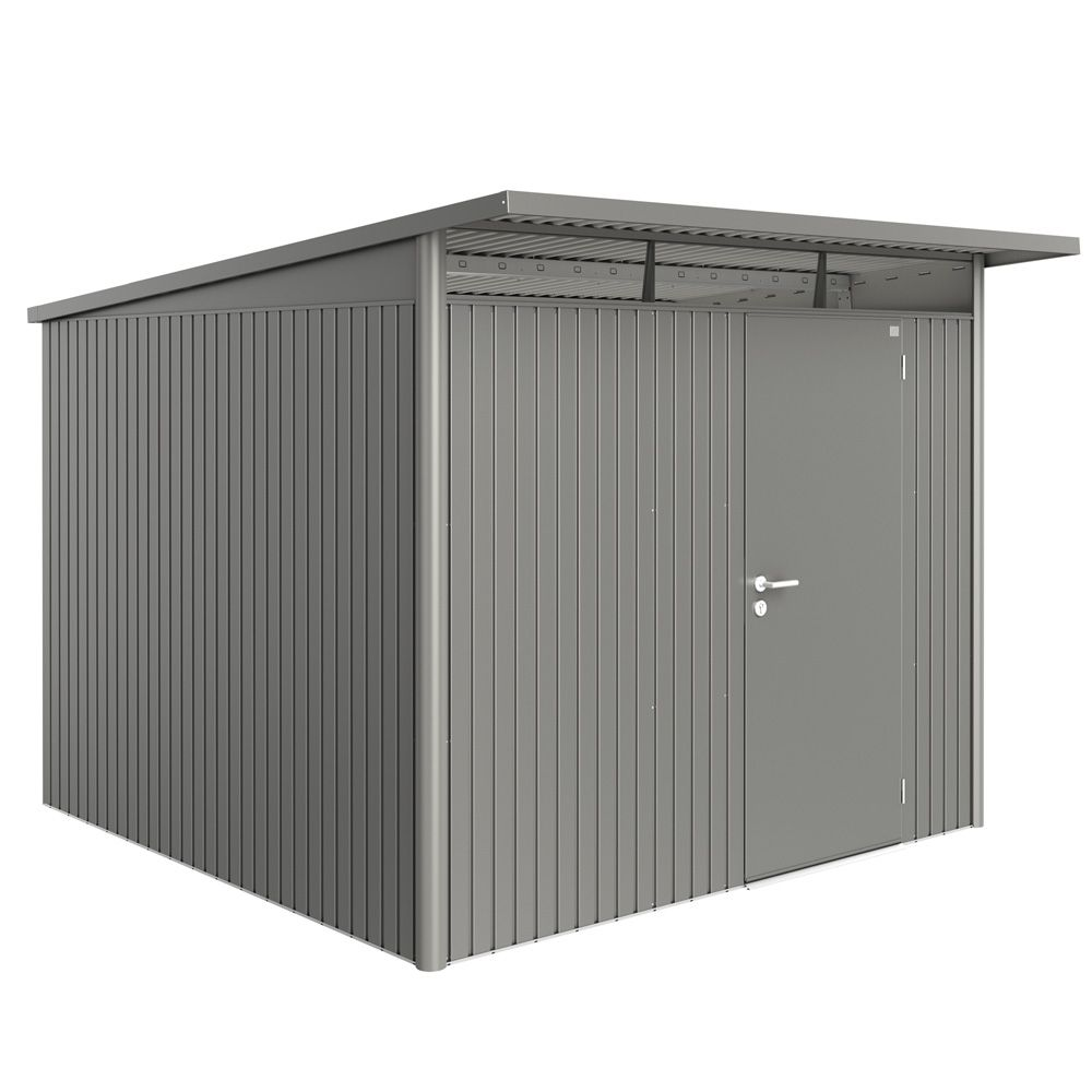 abri de jardin m tal 7 8 m ep 0 53 mm avantgarde biohort gris 260 x 300 x 217 cm gamm vert. Black Bedroom Furniture Sets. Home Design Ideas