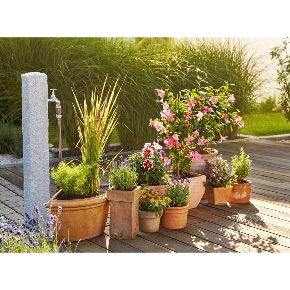 kit micro drip system pour plantes en pots gardena carton gamm vert. Black Bedroom Furniture Sets. Home Design Ideas