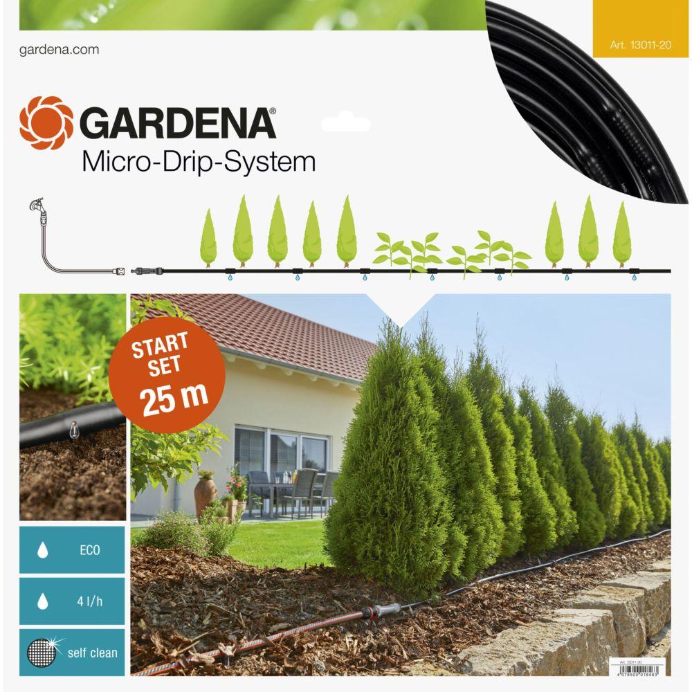 kit d'initiation micro-drip system gardena pour rangées de plantes m