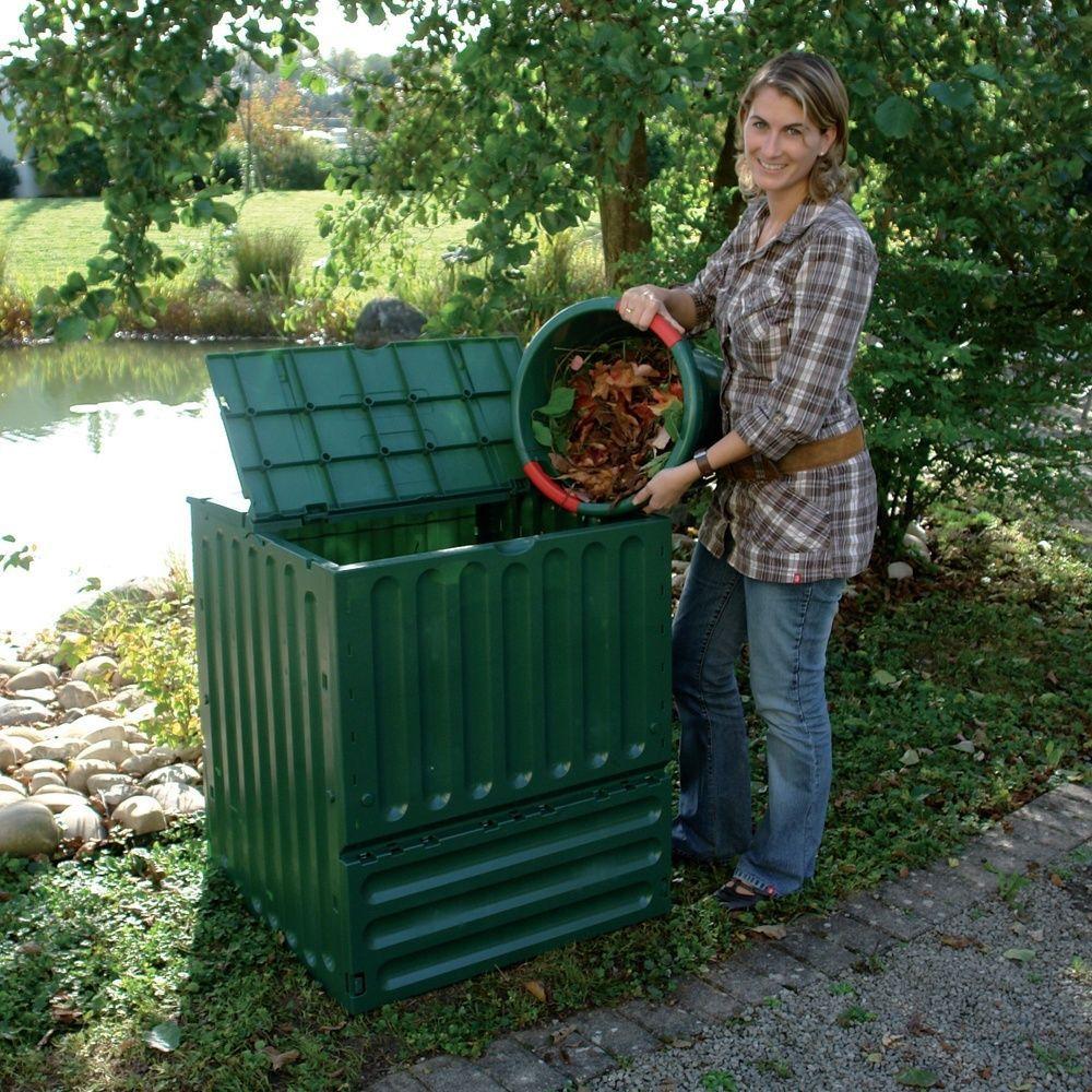 Kit composteur eco king vert 400 l grille de fond - Composteur de jardin ...