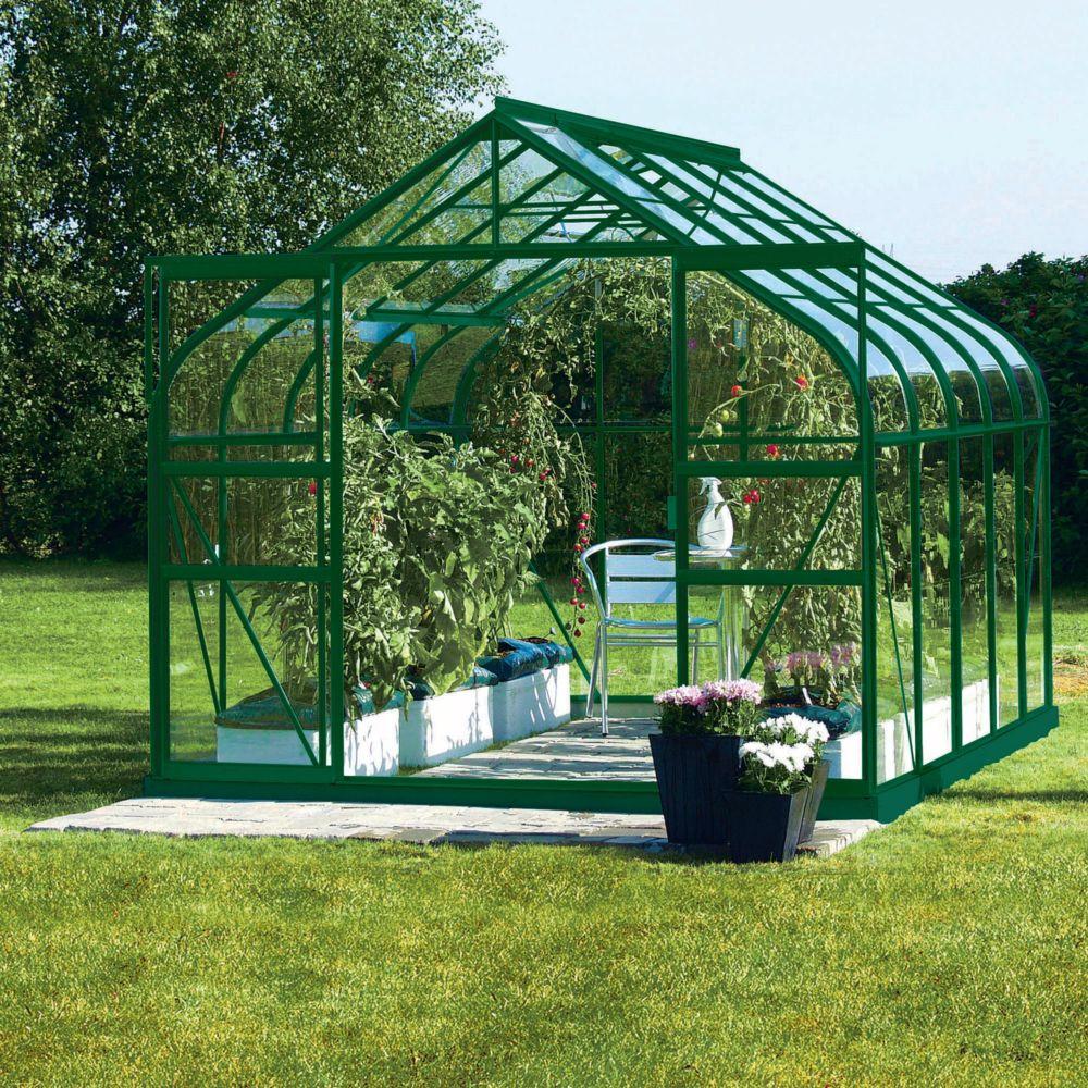 serre diana en verre tremp m vert lams palette. Black Bedroom Furniture Sets. Home Design Ideas