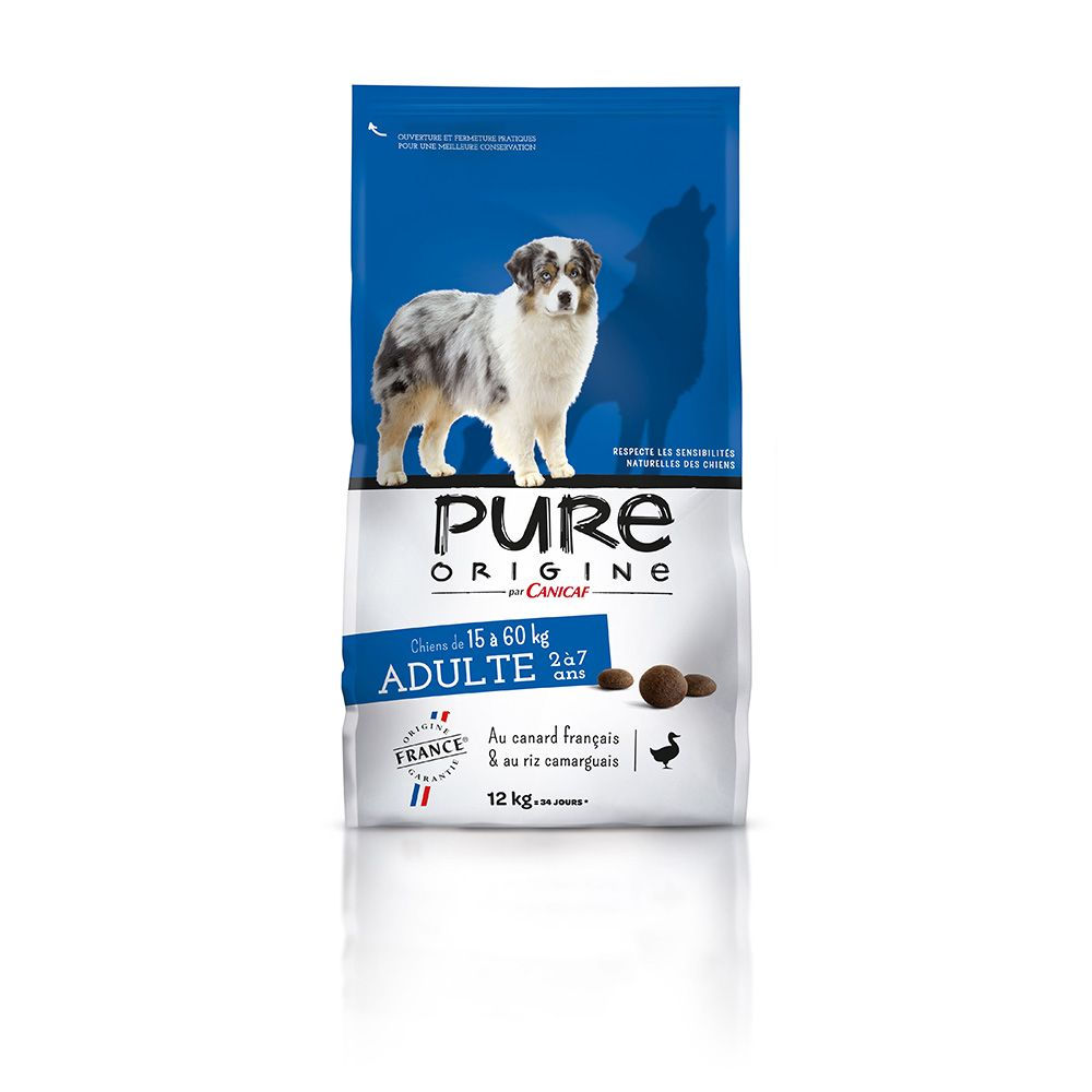 Croquettes adulte chiens PURE ORIGINE 12 kg