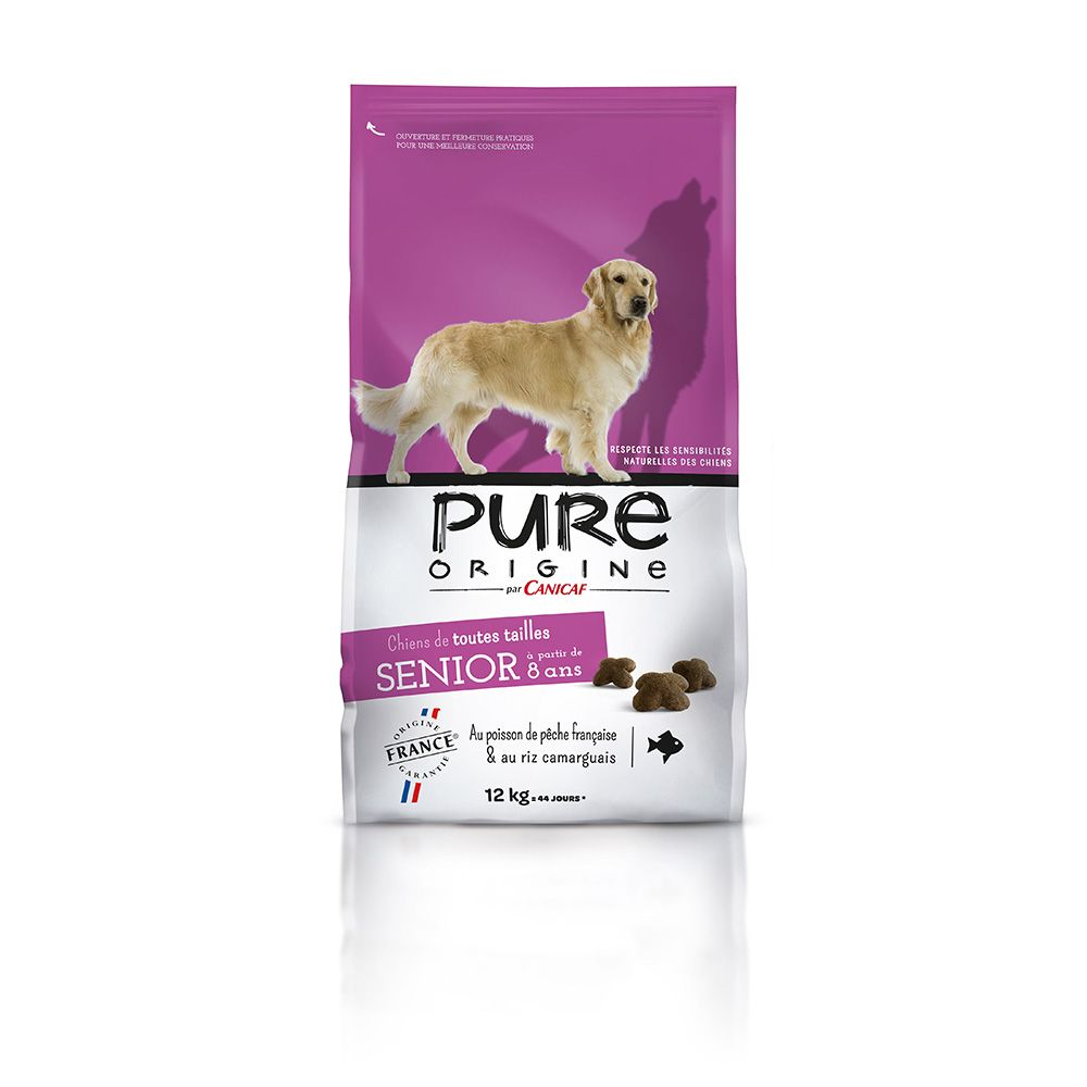 Croquettes chiens matures PURE ORIGINE 12 kg