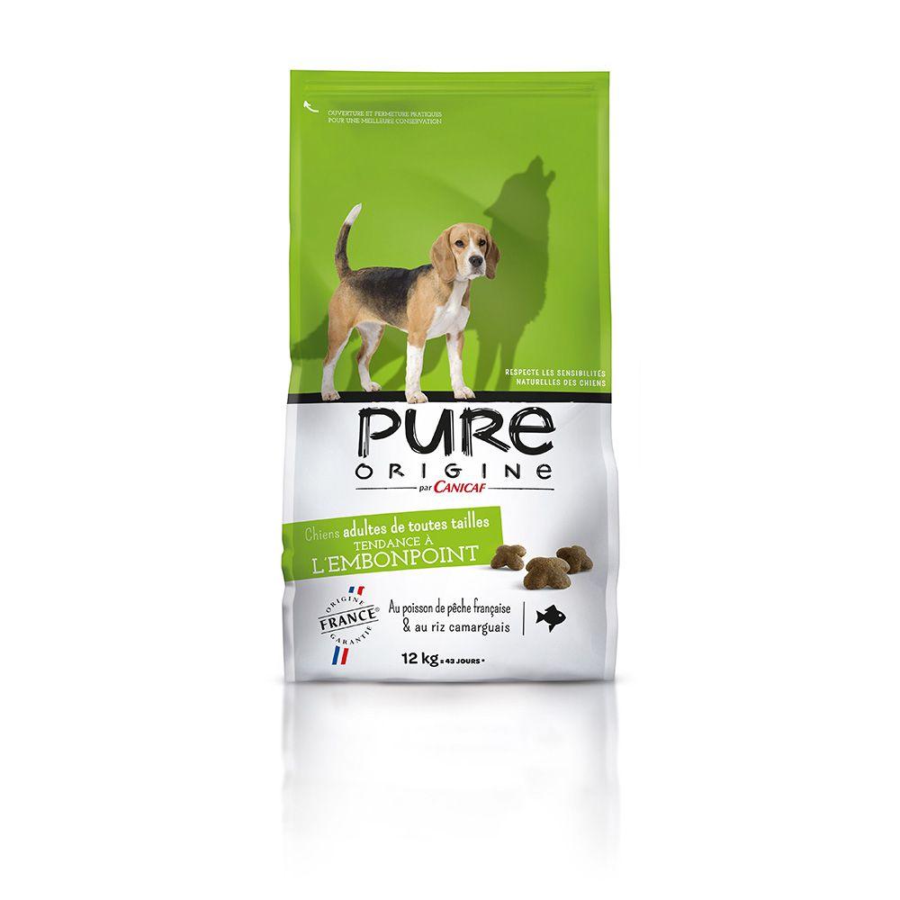 Croquettes chiens tendance à l'embonpoint PURE ORIGINE 12 kg