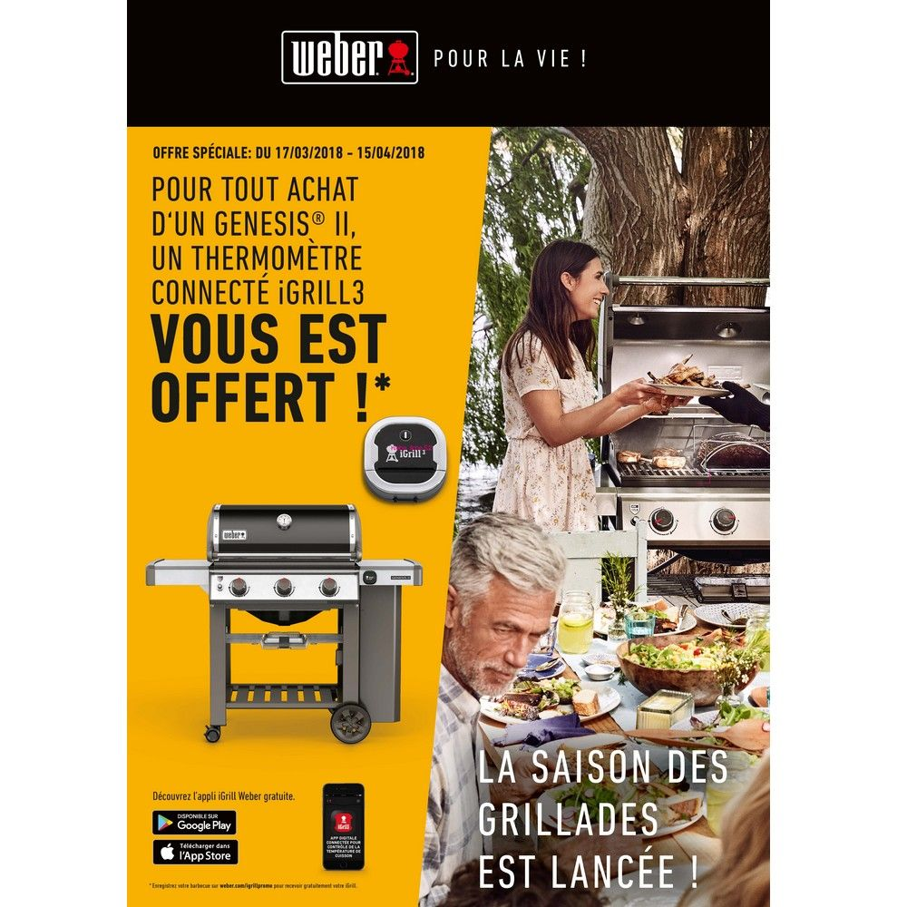 barbecue gaz weber genesis ii lx s-440 inox + plancha offerte 106,88