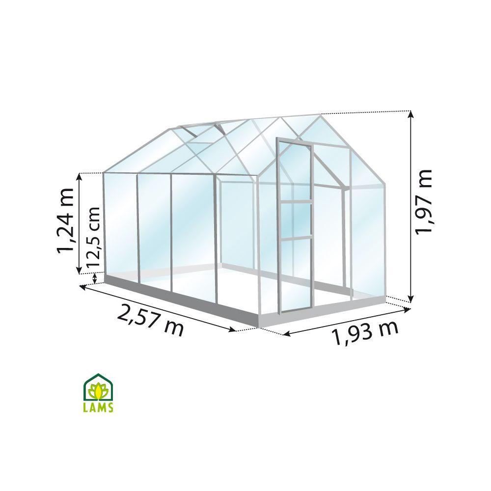 serre venus en verre tremp 5 m vert lams gamm vert. Black Bedroom Furniture Sets. Home Design Ideas