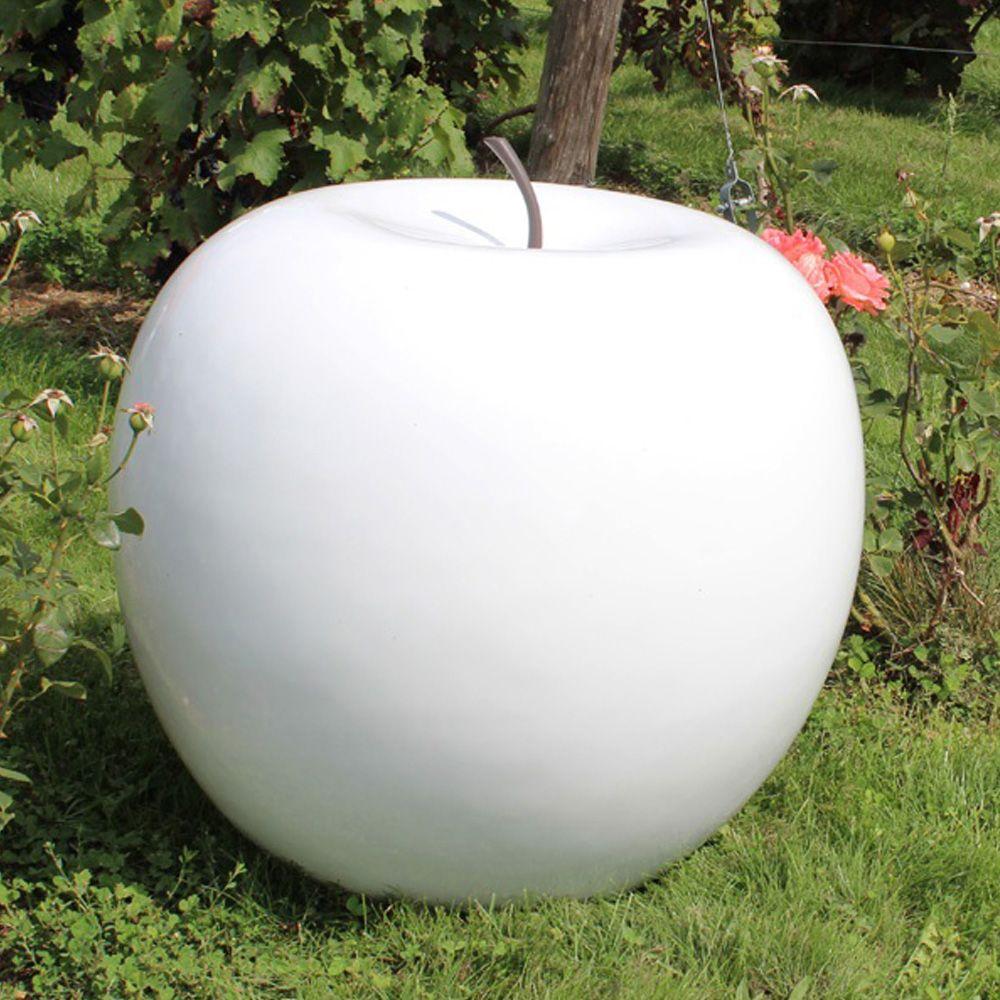 Pomme décorative XXL Ø77 cm résine blanc