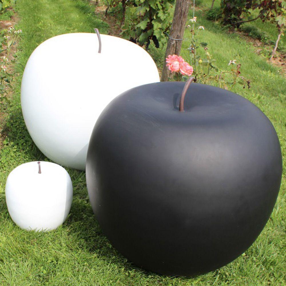 Pomme décorative XXL Ø77 cm résine noir