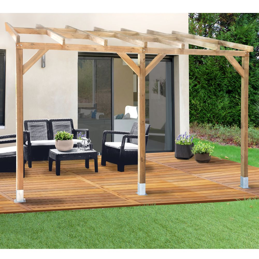 pergola adoss e bois trait 3x3 7 m 3 01 x 0 37 x 0 22 m 3 01 x 0 27 x 0 22 m 0 30 x 0 20 x. Black Bedroom Furniture Sets. Home Design Ideas