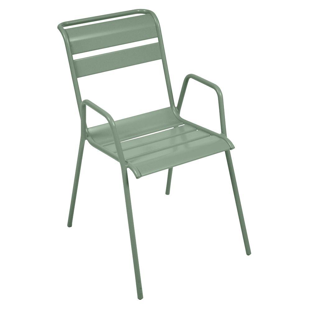 Chaise empilable Fermob Monceau acier cactus