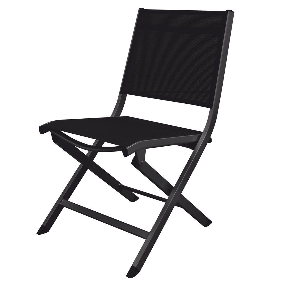 Chaise pliante Kettler Lille aluminium/textilène anthracite