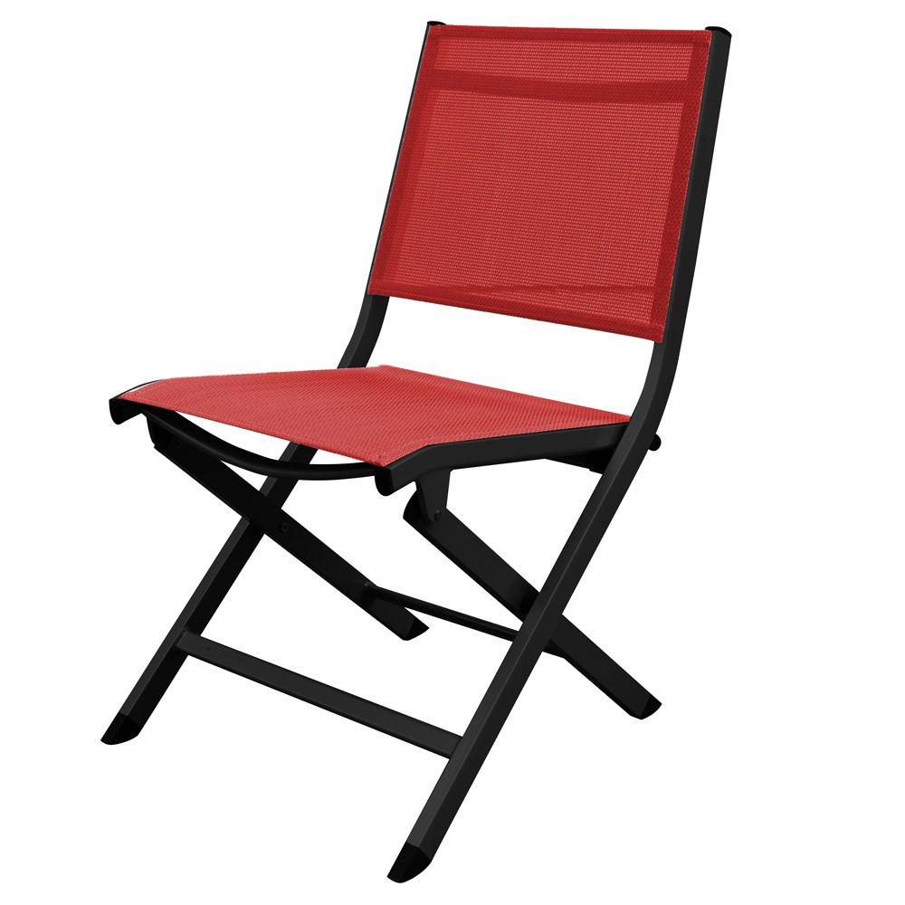 Chaise pliante Kettler Lille aluminium/textilène rouge/anthracite