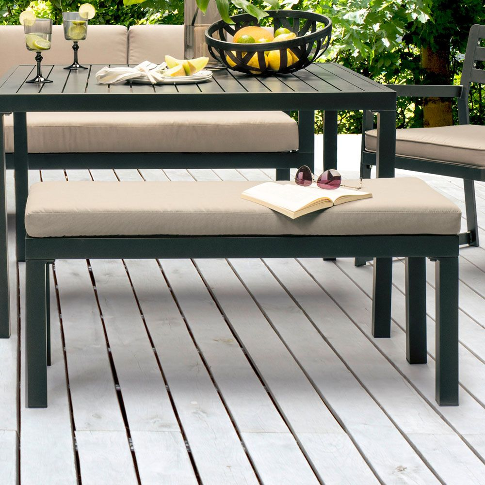 banc kettler oc an l100 cm aluminium anthracite 103x44x9. Black Bedroom Furniture Sets. Home Design Ideas