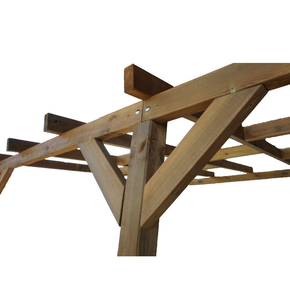 pergola adoss e bois trait 3x3 m 3 01 x 0 47 x 0 22 m 0. Black Bedroom Furniture Sets. Home Design Ideas