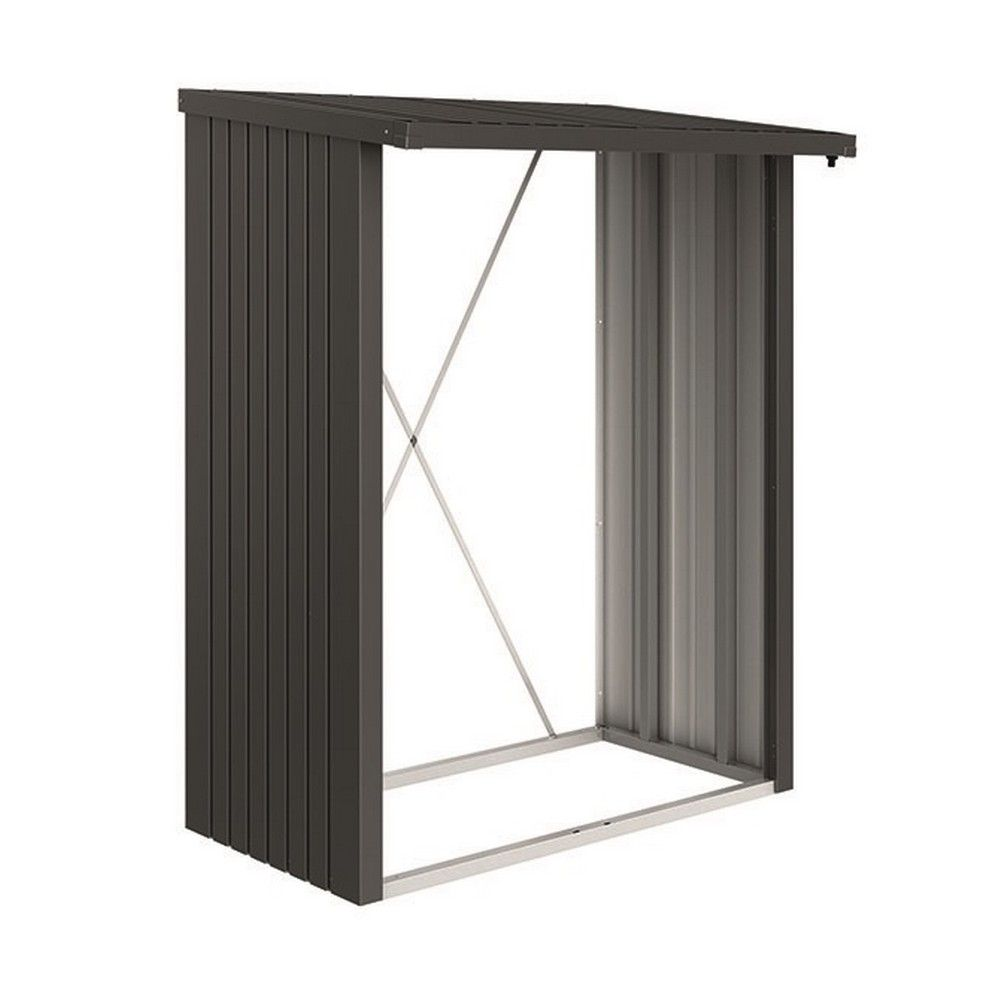 Abri b ches m tal biohort woodstock 1 8 st res gris fonc - Abri jardin metal noir aulnay sous bois ...
