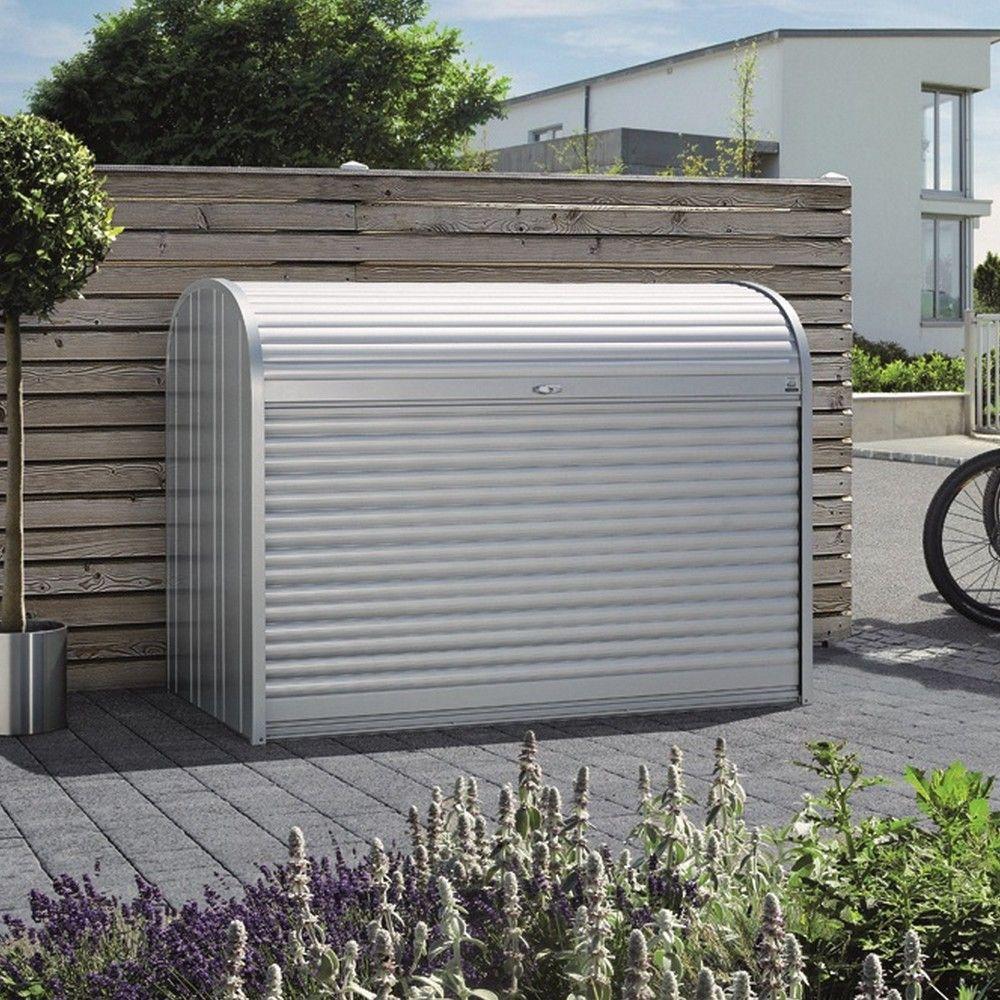 Grand coffre de jardin StoreMax L117 H109 cm Biohort argent