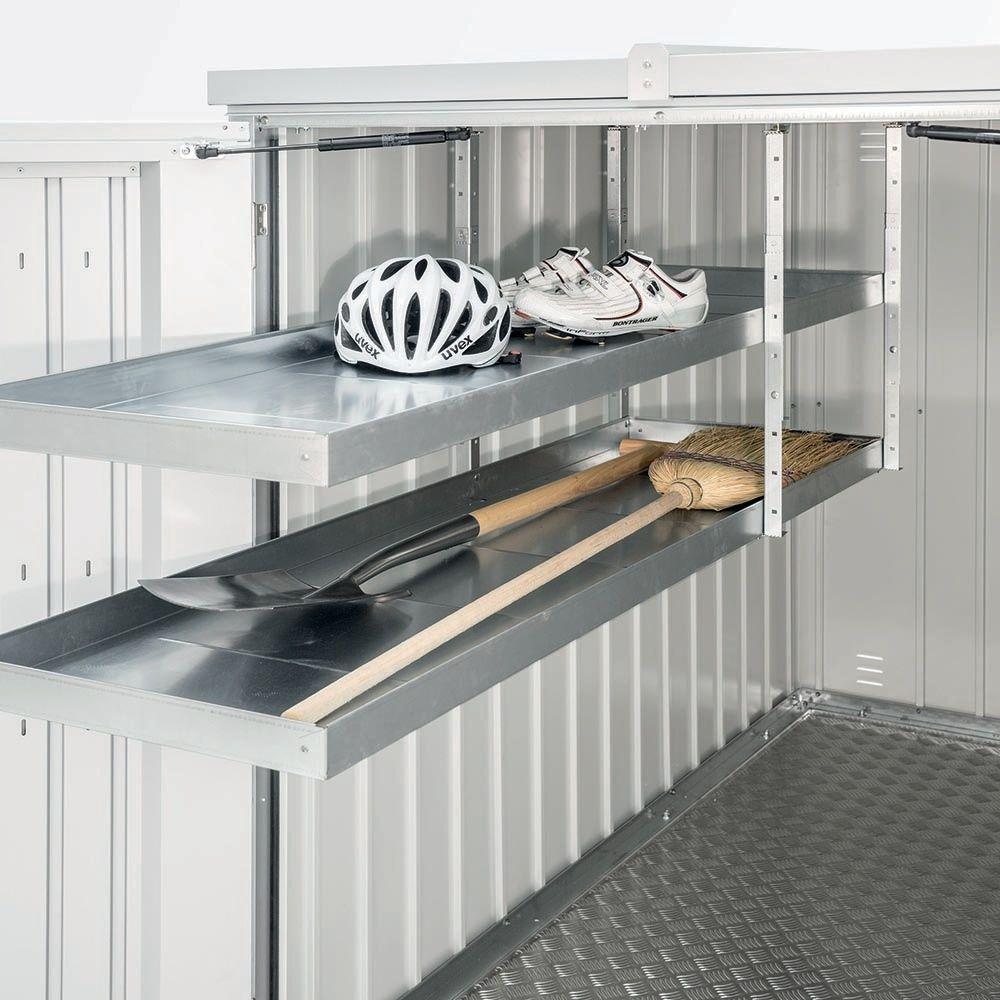 Syst me de rangement pour mini garage biohort l 43 x p 150 x h 5 cm gamm vert - Systeme rangement garage ...
