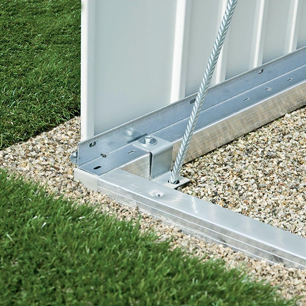 Cadre de sol pour armoire de jardin métal L93 H182,5 cm Biohort 88 x ...