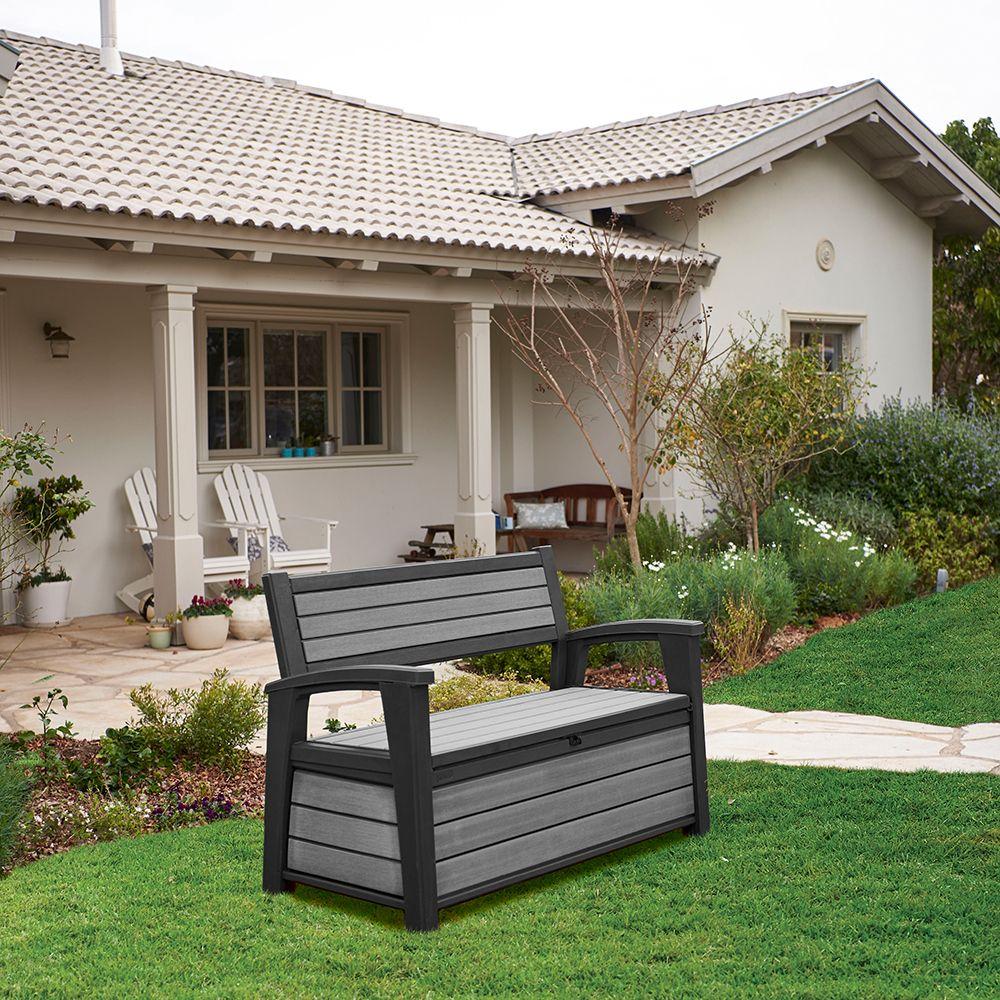 banc de jardin en resine good with banquette de jardin en resine tressee banc coffre en rsine. Black Bedroom Furniture Sets. Home Design Ideas