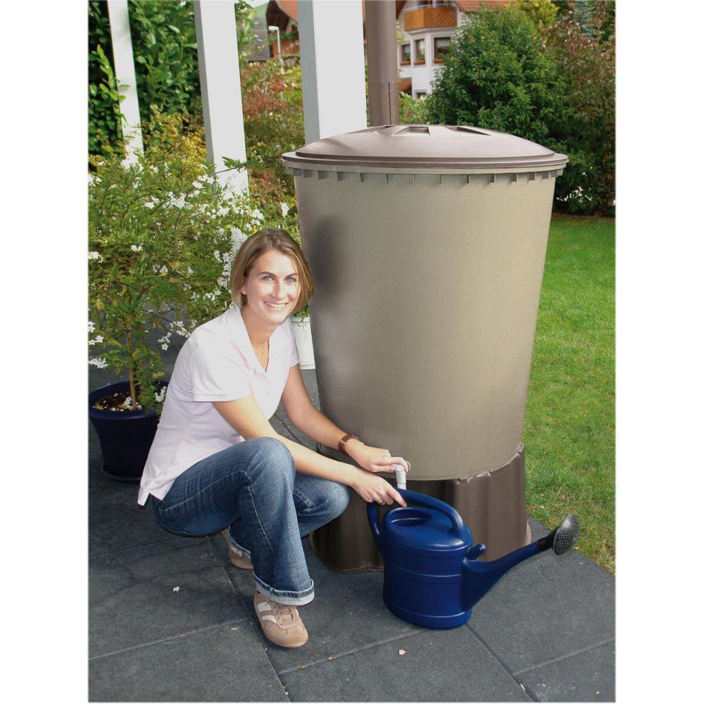 Récupérateur d'eau cylindrique GARANTIA 510 L sable