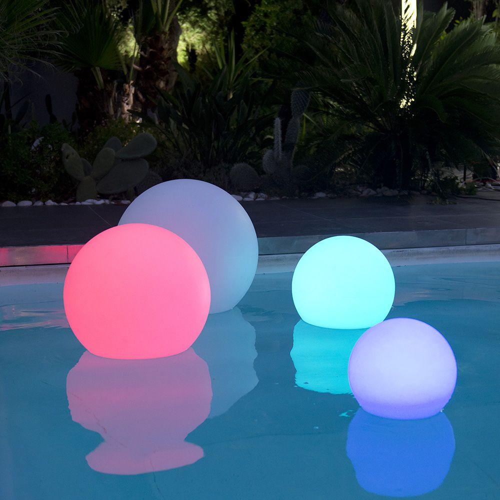 boule lumineuse multicolore lumisky bobby c40 l 41 5 x p 41 5 x h 40 cm gamm vert. Black Bedroom Furniture Sets. Home Design Ideas