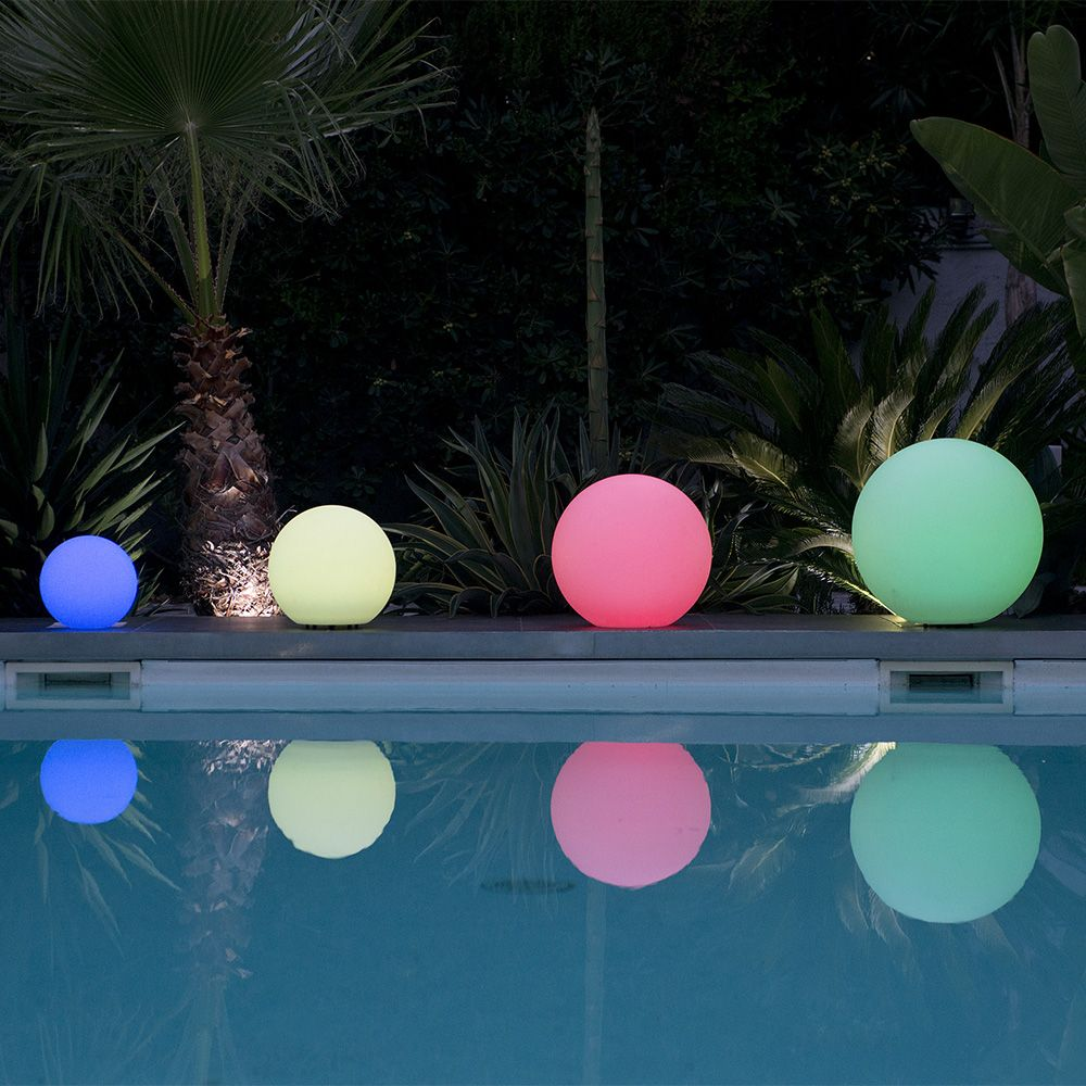Boule lumineuse lumisky multicolore bobby c50 l 50 5 x p for Eclairage exterieur boule lumineuse