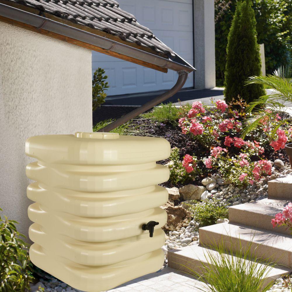 Récupérateur d'eau BELLIJARDIN beige Cubique 1000 L