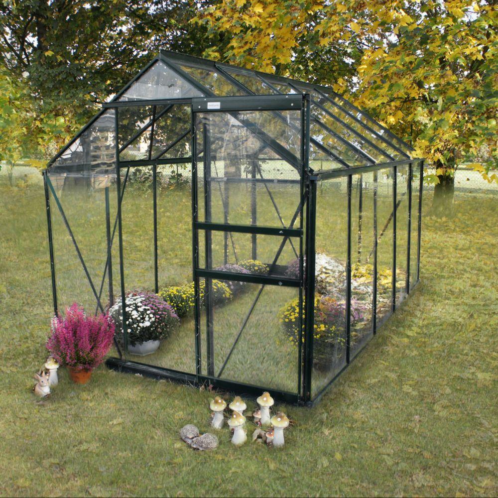 serre en verre tremp sekurit m grise ch let jardin colis 1 armature 306 x 29 x 11. Black Bedroom Furniture Sets. Home Design Ideas