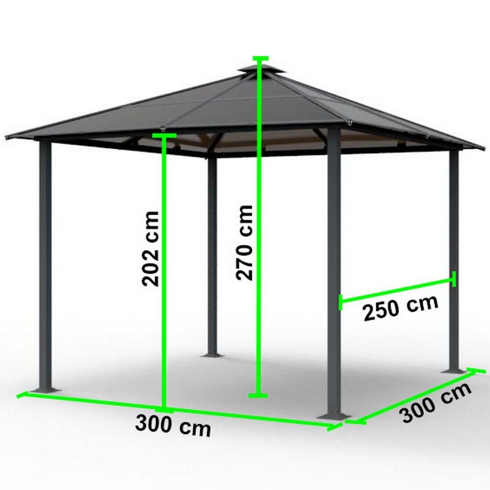 tonnelle autoportante aluminium 3x3 m anthracite 1 colis 235 x 39 5 x 15 1 colis 165 x 81 x 9. Black Bedroom Furniture Sets. Home Design Ideas